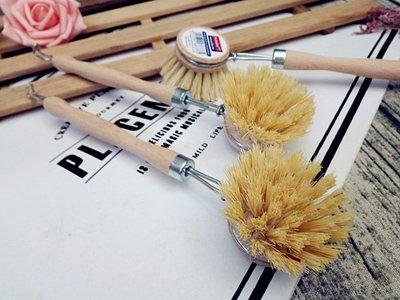 德國原裝~萬用手工木製長柄馬毛清潔刷 鍋具刷