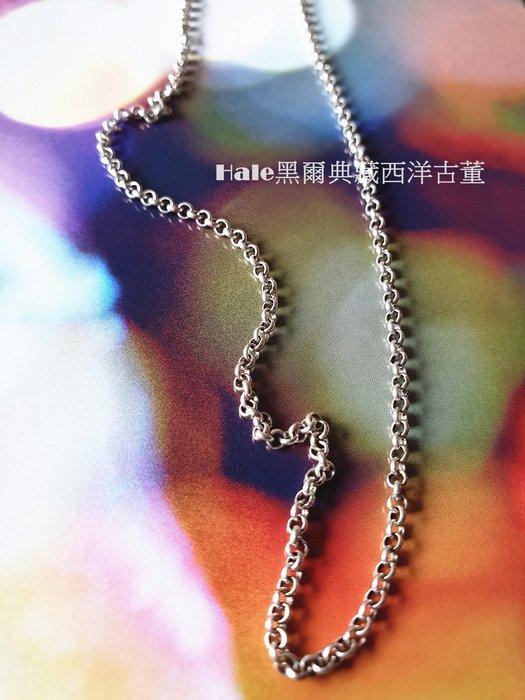 黑爾典藏西洋古董 ~純925銀  經典小圈圈純銀項鍊#18~百搭洋裝乾燥花