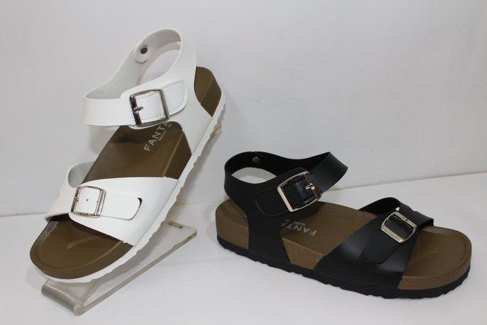 ALICE SHOES艾莉易購網 推薦款821潮流型柏肯涼鞋494黑白粉藍綠 5色 原價390橡膠防滑底