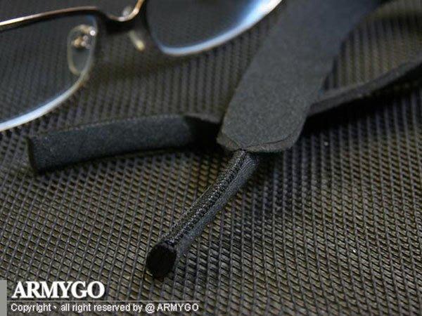【ARMYGO】運動彈性眼鏡帶 ( 素面黑色 )