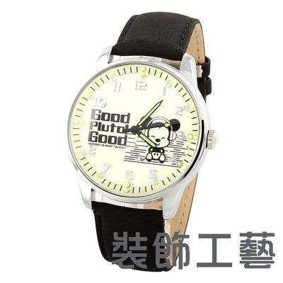 迪士尼手錶 米奇皮帶學生復古時裝錶男錶...