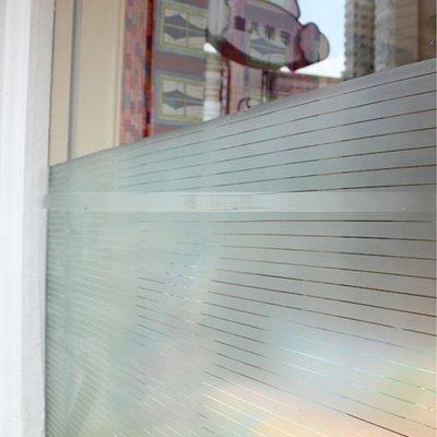 5Cgo【宅神】含稅會員有優惠 19738664483 細磨砂玻璃貼膜條紋辦公室玻璃隔斷玻璃貼紙磨砂靜電吸附免膠衛生間