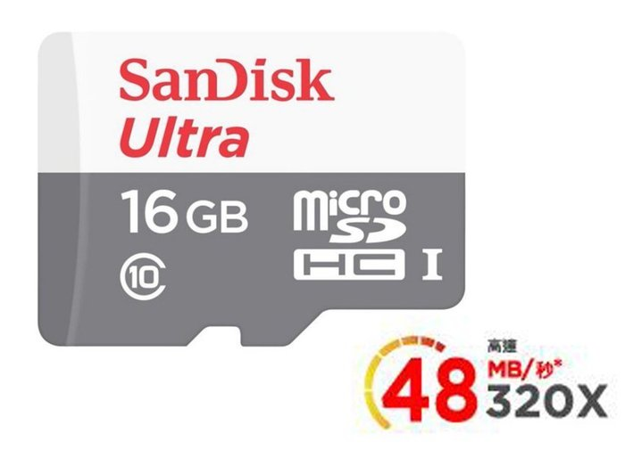 SanDisk Ultra microSD UHS-I 16GB 記憶卡-白 (公司貨)