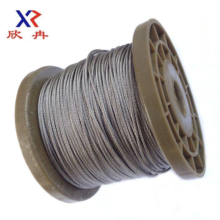 衣萊時尚-促銷304不銹鋼升降晾衣架牽引起重細軟釣魚繩鋼絲繩0.4mm 1*7