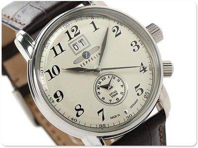 ZEPPELIN 齊柏林飛船 手錶 LZ127 42mm 德國 飛行錶 航空錶 7644-5
