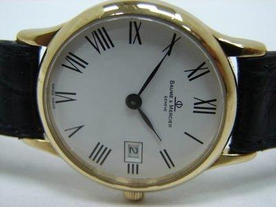 (板信當舖流當品) Baume*Mercier 名仕 18K金 石英 女錶 9成5新 喜歡價可議PR100