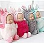 福福百貨~毛球款小熊/兔子睡夢寶寶鑰匙扣睡萌娃娃baby包挂件掛飾~