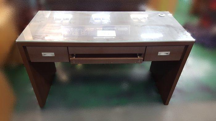 台中二手家具賣場 推薦 宏品全新中古傢俱家電 E111802胡桃辦公桌*2手補習班桌椅 課桌椅 oa辦公桌椅