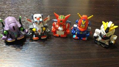 絕版收藏 SUPER ROBOT F-BOX 日版 超級機器人大戰 Q版 盒裝發條玩具 已拆5隻