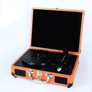 【優上精品】便攜手提箱式黑膠唱片機 電唱機 老式留聲機 lp唱機 現代(Z-P3233)