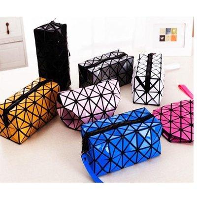 收納包-化妝包隨身幾何菱格收納包便攜化妝包隨身幾何菱格收納包
