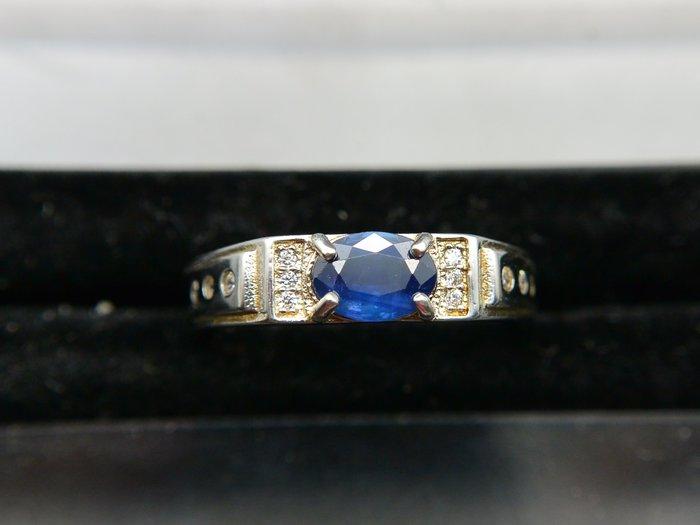 天然藍寶石Sapphire  中性款戒 戒子 戒指 #13.5