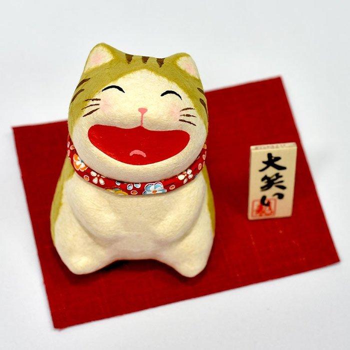 大笑虎貓 吉祥物 日本製