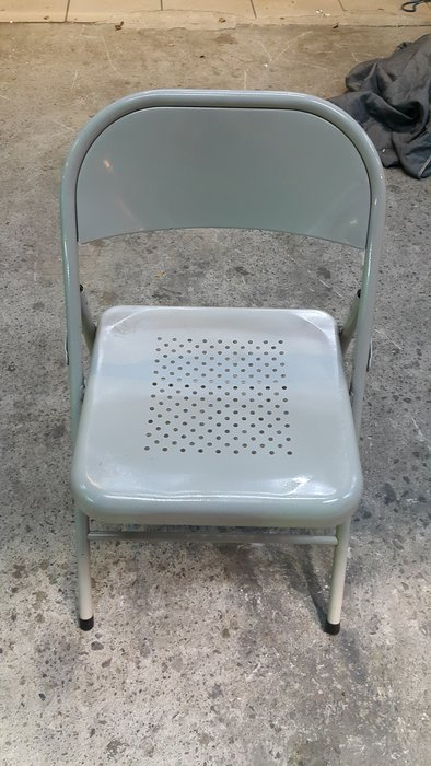 樂居二手家具 A1216BJ 灰色鐵製折椅 辦公椅 洽談椅 書桌椅 電腦椅*2手桌椅拍賣 會議桌椅 全新中古傢俱家電