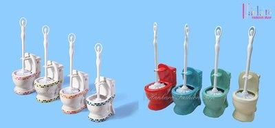 ☆[Hankaro]☆ 創意衛浴馬桶造型陶瓷馬桶刷組~(合併批發另洽)