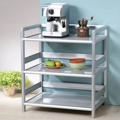鋁合金2.5尺三層置物架 電器架 碗盤架 層架 餐櫃 廚房【Yostyle】SH-1519-117250
