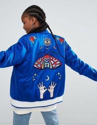 [預購] adidas Embellished Arts Bomber Jacket 夾克 藝術 聯名款 藍色 MA1