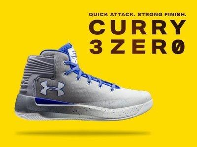 預購UNDER ARMOUR Curry 3.0 3zero 白灰配色 大童款 GS (特價商品)