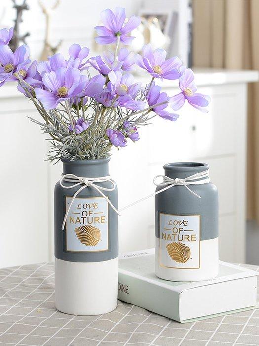 品如衣櫃 洗衣袋 地球儀  居家家北歐陶瓷裝飾花瓶家居客廳裝飾品干花擺件水培插花瓶陶瓷瓶