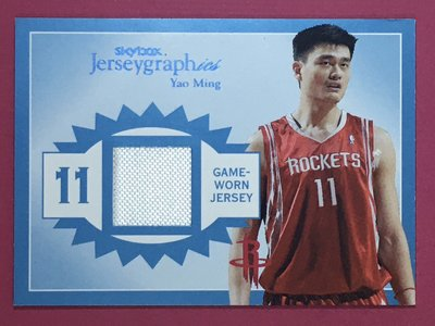 2003-04 SkyBox Autographics Yao Ming Game-Worn Jersey 22/350