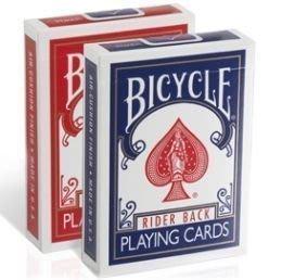 【意凡魔術小舖】魔術道具 全新BICYCLE 808紅藍撲克牌 舊白盒裝天使牌背 單副1副