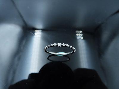 %玉承珠寶%輕珠寶系列14k白K金精緻天然鑽石小星點設計鑽戒/尾戒DR11(現貨1)