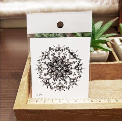 【萌古屋】】花朵圖騰 - 手背防水紋身貼紙刺青貼紙CD-127 K12