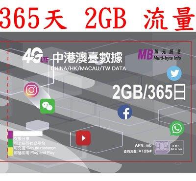 【杰元生活館】365日2GB流量中國大陸、香港、澳門、台灣上網卡大中華 GPS 追蹤器 車聯網適用