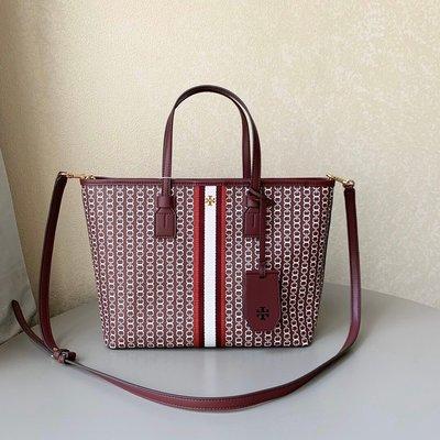 Chris精品代購 美國Outlet Tory Burch TB 新款 帆布購物袋 斜背包 獨特外型設計 空間大 紅色