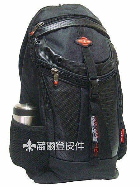 《葳爾登》十字軍護脊功能後背包大尺寸電腦包運動背包公事包側背包登山包手提包2236黑