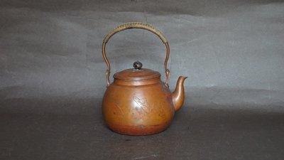 **** 愛忻坊 **** 日本~龍文堂錦鯉荷花紋銅瓶/銅壺