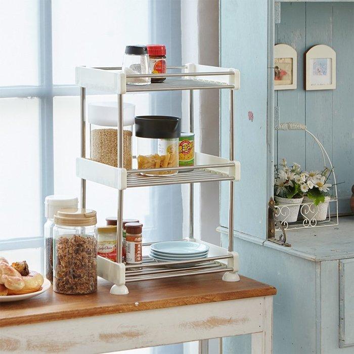 [tidy house]二層不銹鋼廚房收納架置物架 廚房架 調味罐架 浴室架 SS3022282
