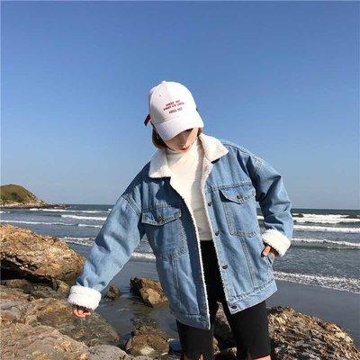 ✨日韓美著✨冬季流行軟暖牛仔內鋪絨毛外套camouflage clothing