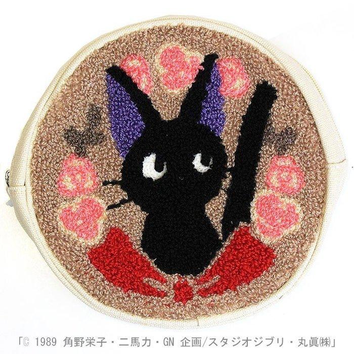 現貨不必等 魔女宅急便 KIKI 吉吉 黑貓 圓形 化妝包 萬用收納包 4992272559460 C