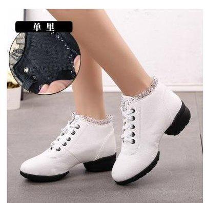 【居家家】舞蹈鞋女成人廣場舞跳舞鞋新款春季女式中跟軟底JZZ-免運費