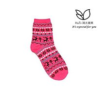 【3雙】S-SOCKs-HuTi-麋鹿圖騰款-中長襪-短襪/棉襪/女襪/學生襪/可愛襪/聖誕襪/童襪/襪子/少女襪