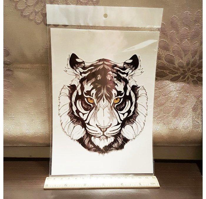 【萌古屋】三眼神手臂大圖 - 男女防水紋身貼紙原宿刺青貼紙K03