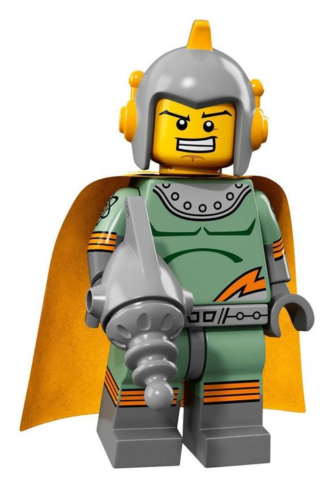 【LEGO 樂高】2017最新 積木/ Minifigures人偶包系列:17代 71018   #11 復古太空人
