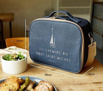 好心情日韓正品雜貨『韓國 invite.L 』Cooler Bag Meal Box 保冷便當袋野餐手提包 附保冰袋