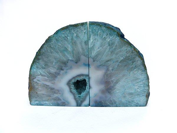 ☆寶峻水晶☆現貨特價~開運晶石家飾 藍綠色 瑪瑙書架 MA-3  書桌書櫃擺放  增進關察力及判斷力《徵貿易批發》