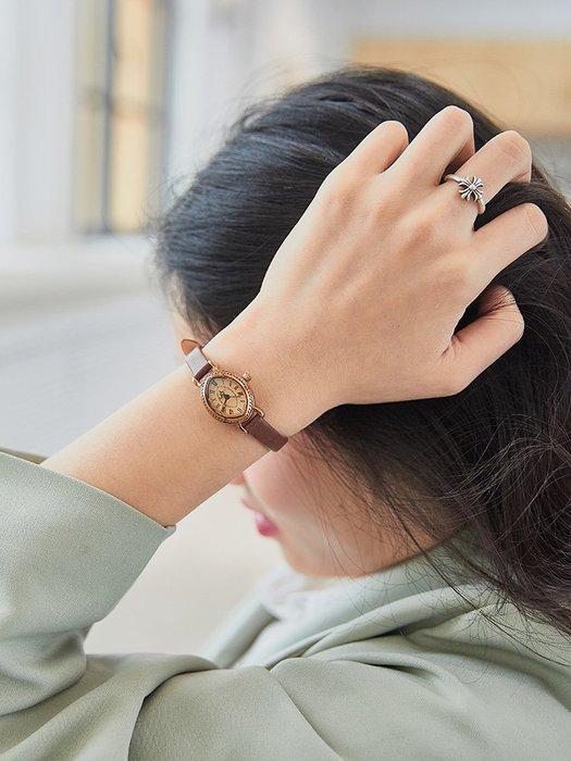 小花花精貨店-Julius聚利時韓國時尚 細表帶女士小巧 復古手表女ins風石英表 防#手錶