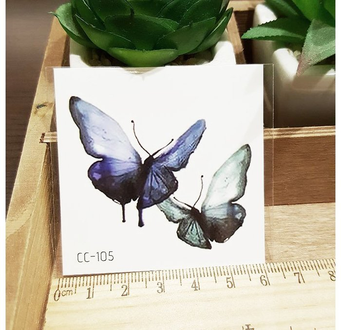 【萌古屋】花朵單圖CC-105 - 防水紋身貼紙刺青貼紙K38