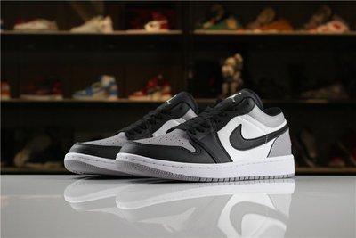 "Air Jordan 1 ""Atmosphere""黑灰 經典 低筒 休閒滑板鞋 男鞋 553558-110"
