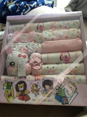 新生兒禮盒 女寶寶 滿月禮盒18件組附紙袋 台中市