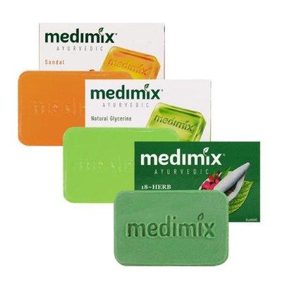 牙齒寶寶 原裝進口 MEDIMIX 印度綠寶石皇室藥草浴 美肌皂125g
