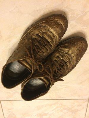 義大利MACANNA麥肯納 時尚經典古銅金 雕花皮鞋 英倫型男 歐美潮流 nick wooster GUCCI 參考