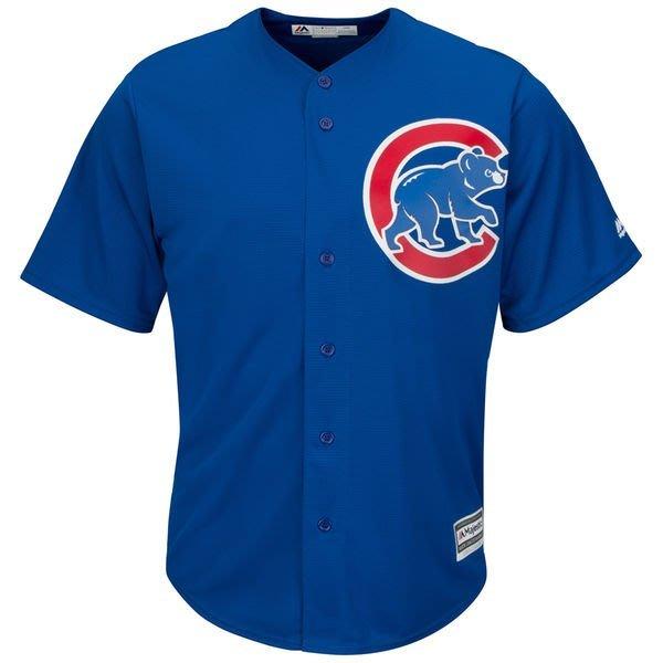 MLB 美國大聯盟 正品 Majestic 芝加哥小熊  Chicago Cubs 棒球衣 背號 藍色 青年版 生日禮