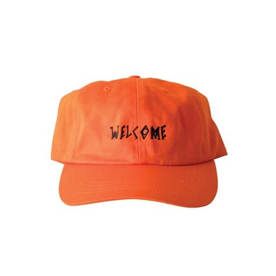 《 Nightmare 》Welcome Skateboards Scrawl Dad Hat - Orange