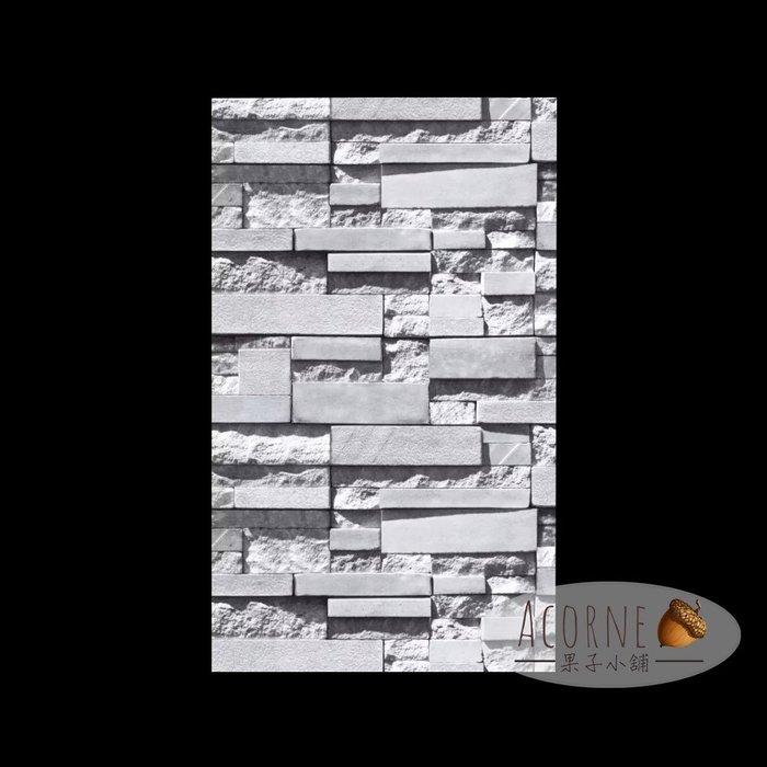 果子小舖. 3D立體文化石牆紙 簡約現代客廳電視背景牆 仿石頭美髮店理髮店壁紙