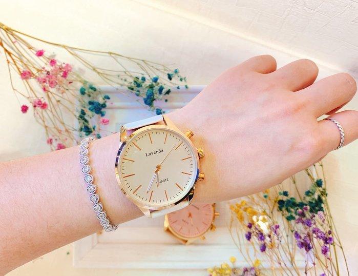 韓國❤️ Lavenda OL最愛 俐落 刻度 皮質 造型錶 手錶【Verina's韓系美飾】